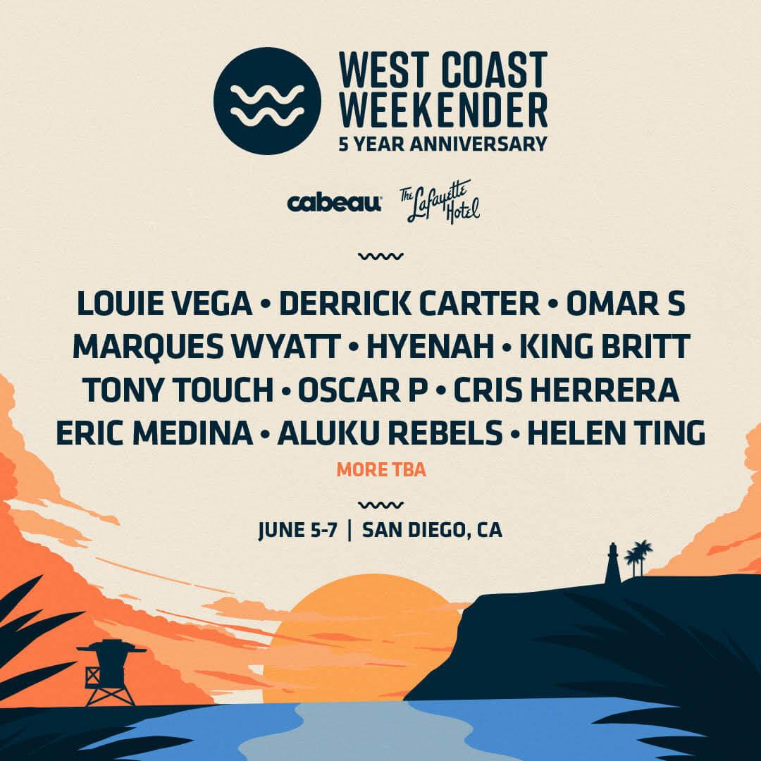 2020 West Coast Weekender Phase 1 Lineup